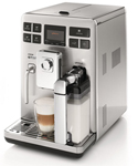 """Saeco Exprelia SS HD8856 Newly Overhauled Includes 90 Day Warranty, The Saeco Exprelia SS HD8856 is a perfect one touch espresso coffee machine with immediate beverage selection interface"